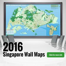 New 2017 Singapore Wall Maps
