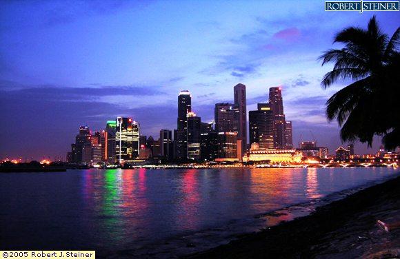 Singapore Skyline  - View from Marina Promenade