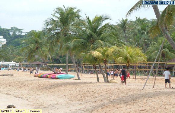 Sentosa Beaches, Siloso Beach,Home of the Volleyball Buffs