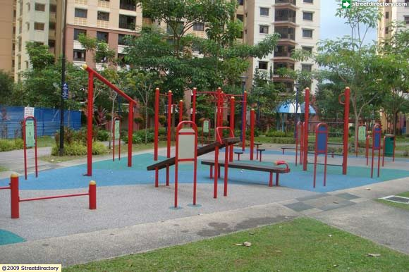 Jelutung harbour park fitness corner image singapore