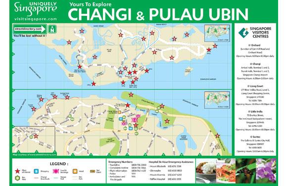 Enlarge Changi Pulau Ubin Map